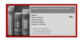 Population trends in Internet sports gambling