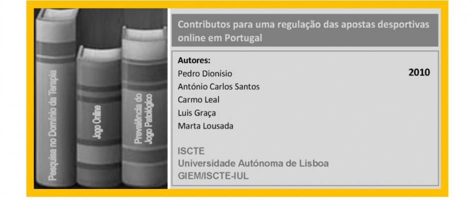 Contributos para uma regulação das apostas desportivas online em Portugal